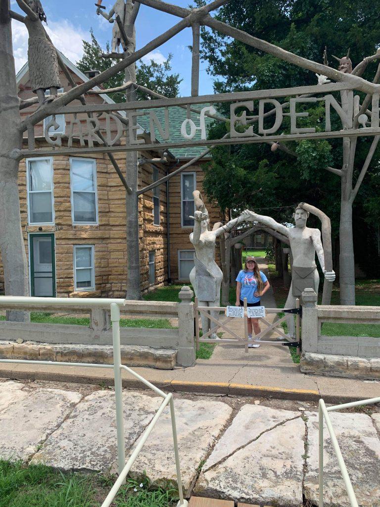 Jody Bohnenblust at Garden of Eden in Lucas, KS
