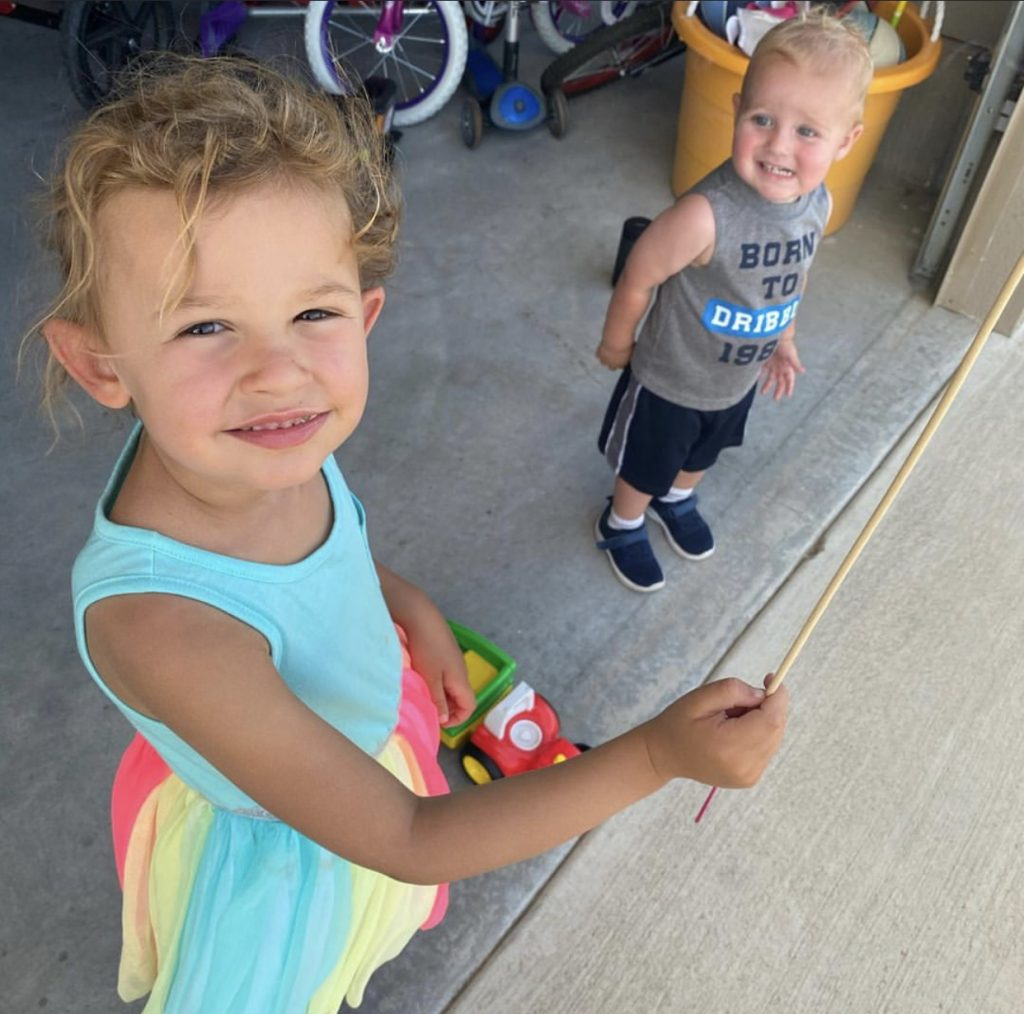 Sloane (5) and brother Layton Kliewer (2 in August)