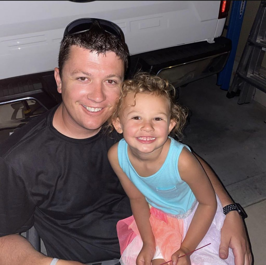Tim Kliewer and his daughter Sloane (5)