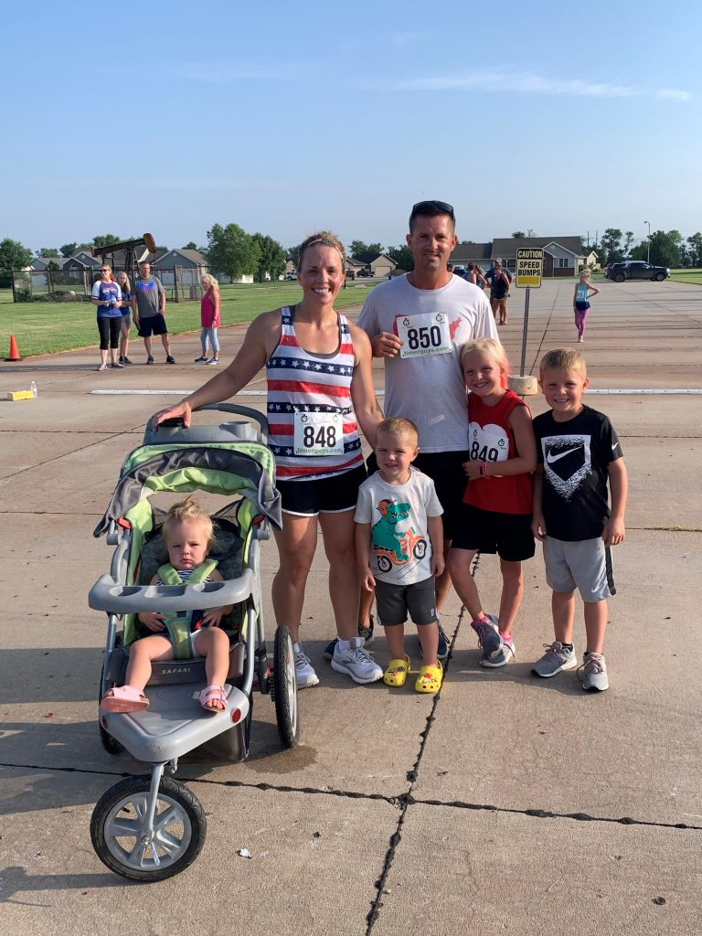 Rierson family at a 5k in Galva, KS