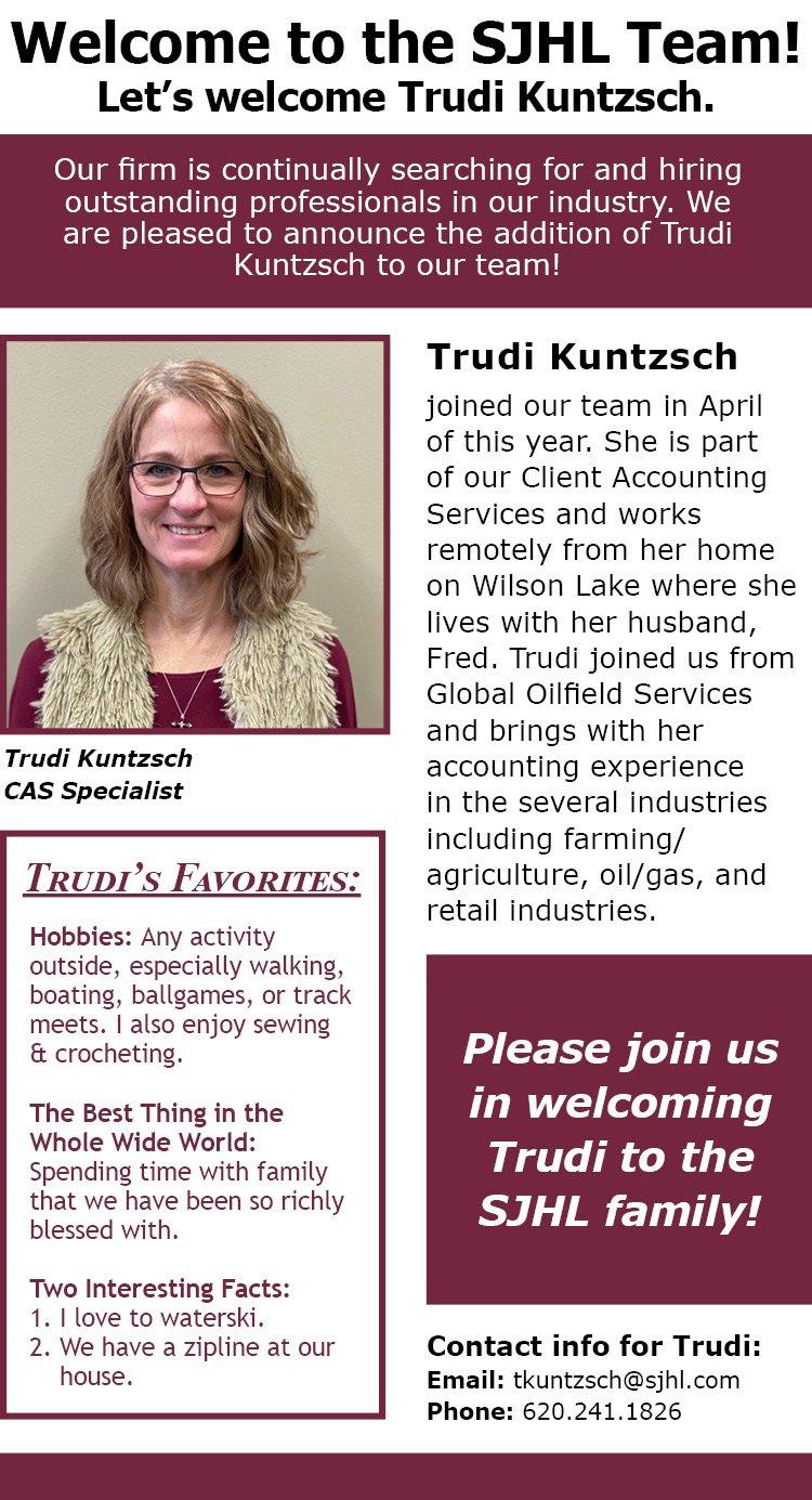 Welcome Trudi